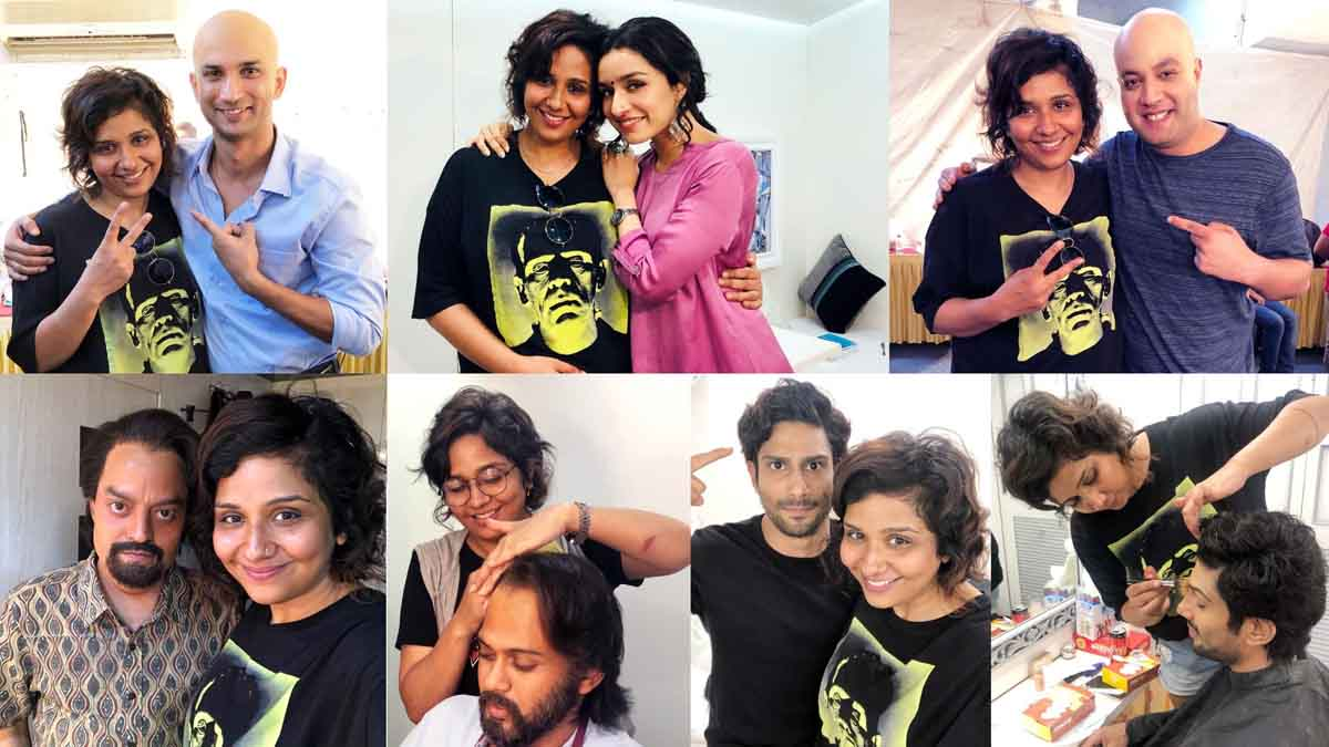 Makeup and prosthetic look designer Preetisheel Singh with Chhichhore cast. Pic 3